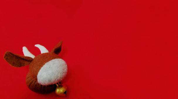 Ox / New Year's card material (handmade felt)