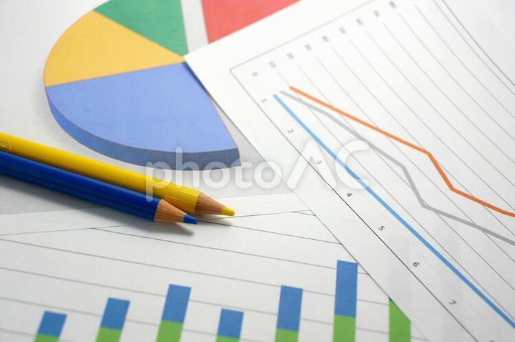 さまざまなグラフの写真