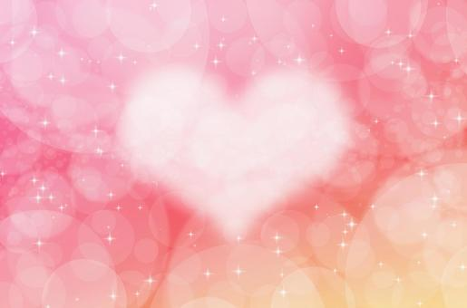 Fantastic pastel heart background _ watercolor touch abstract texture _ red orange