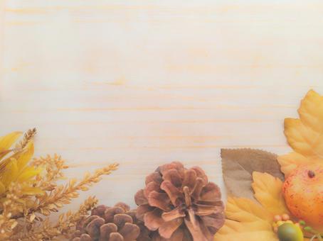 Halloween autumn background frame