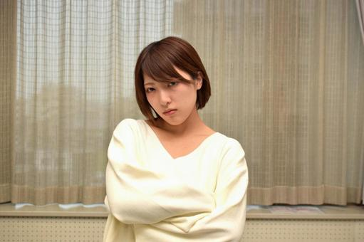 Angry japanese woman