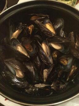 Amsterdam full bucket of mussels