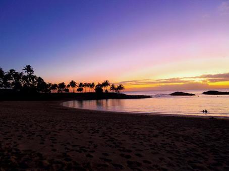하와이의 일몰 3