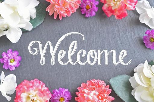 Welcome lettered board