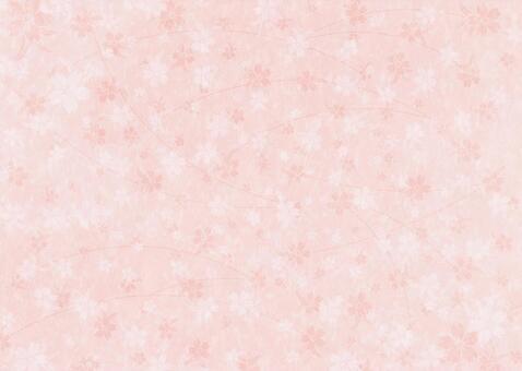 Cherry texture on Japanese paper _ orange