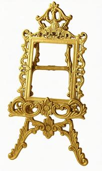 Antique gold color frame & easel 1 (with cutout pass)