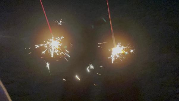 Fireworks on hand