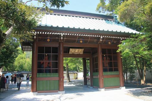 High German Temple Ren Wang door