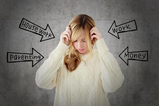 Stressful woman