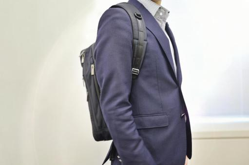 Backpack men commuting to work business rucksack intern
