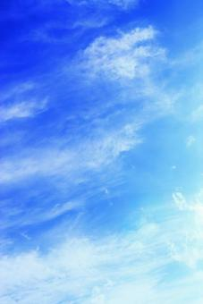 Blue sky background with beautiful blue sky and white clouds