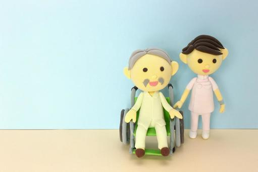 Wheelchair's Old Man and Nurse 3
