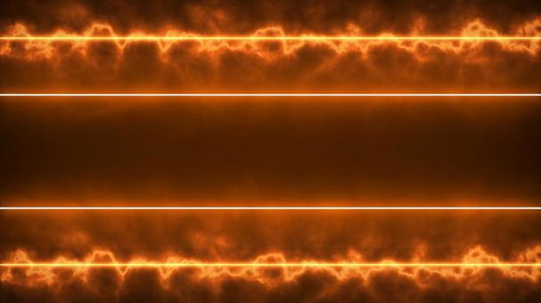 [1920px × 1080px] 오렌지 발광하는 광선 플레어 대 중앙에 2 개의 라인