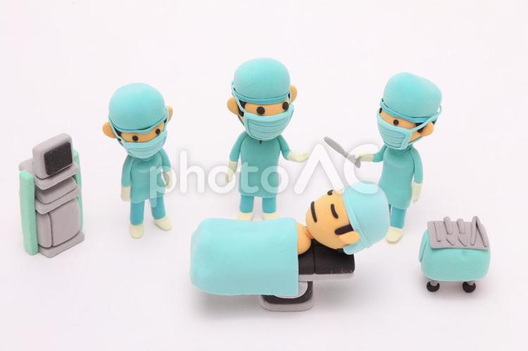 粘土人形 医者と患者4の写真