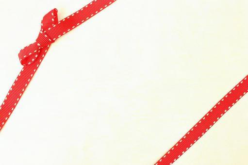 리본 질감 배경 크림 리본 매듭 빨간 리본 2