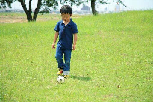 Children playing soccer 5