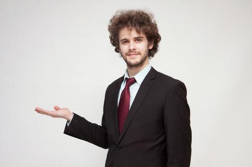 Handsome foreign businessman 216