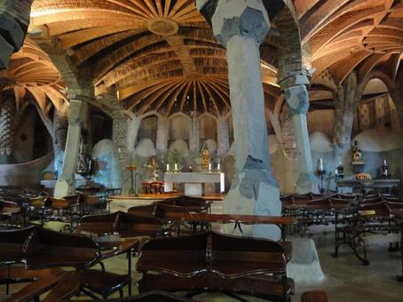 Inside the Colonia Guell Church