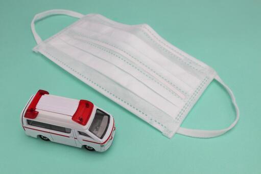 Mask and ambulance
