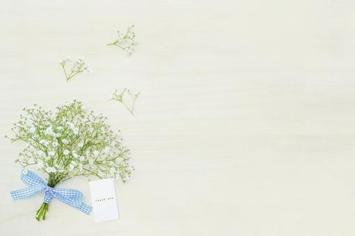 Flower basket and Thank you card