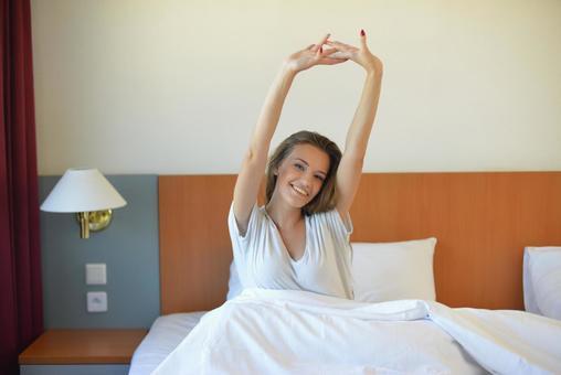 Hotel Waking up Woman 23