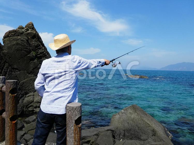 男性 釣り 福井県若狭湾の写真