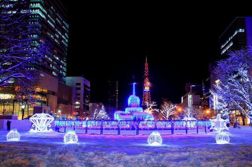 札幌白色照明