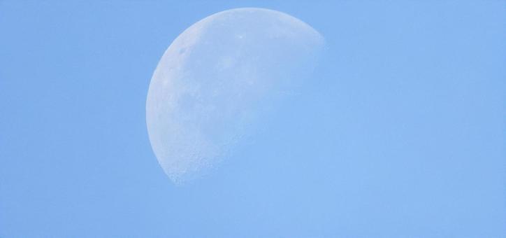 대낮에 보인 달