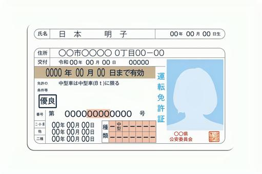 Driver's license clipping PSD