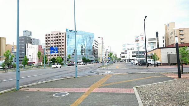 Asahikawa station square Kitano Building