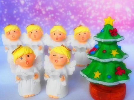 소형 잡화 크리스마스 - 트리와 천사의 성가대