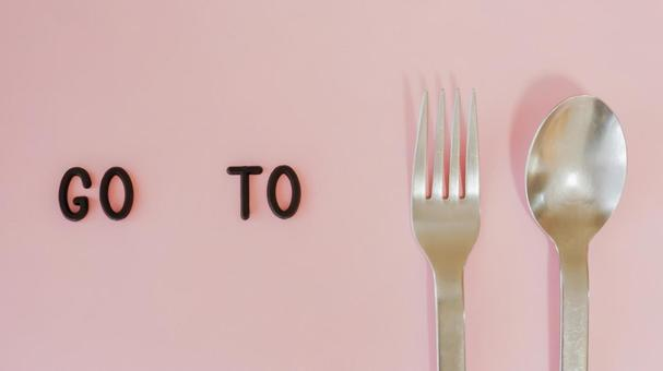 GO TO EAT 05 Image material (pink background)