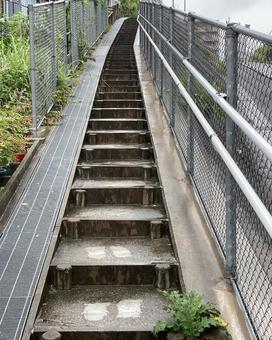 Narrow stairs on the side road Up (2)