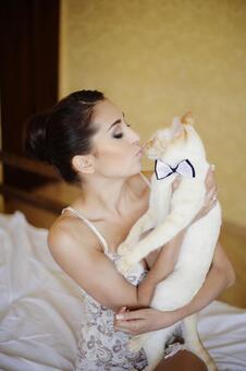 猫和内衣4的外国妇女