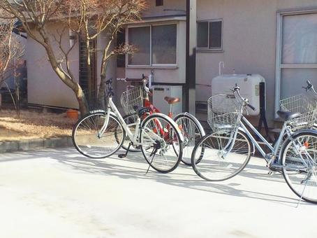 One day after school · Scenery with a bicycle