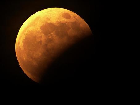 Partial lunar eclipse (aged 14.5)