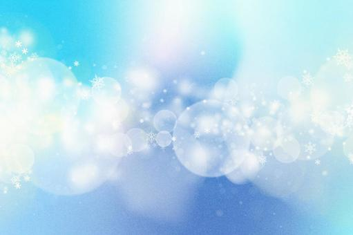 [Winter background is perfect!] Snowflake Glitter frame Holography Blue gradation