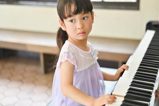 Girl playing the piano Summer 3