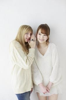 Female friend Foreigner and Japanese 42