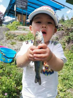The boy who caught a fish