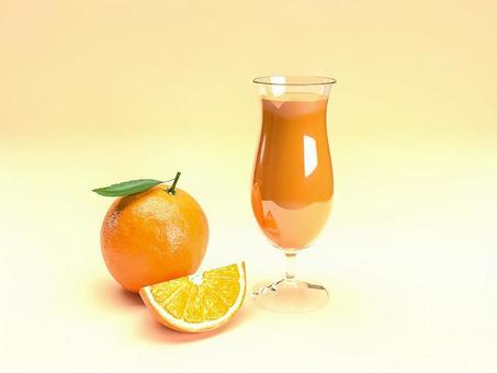 桔子汁和橙色水果的形象