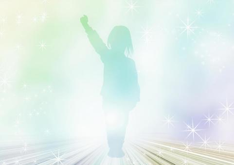 Glittering child silhouette