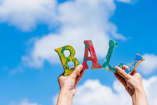 Image of Bali travel Blue sky