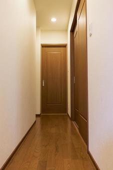Corridor with wooden floors