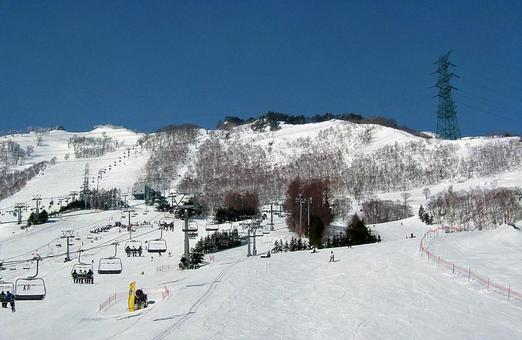 The ski resort is already in winter