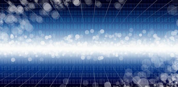 Digital space blue