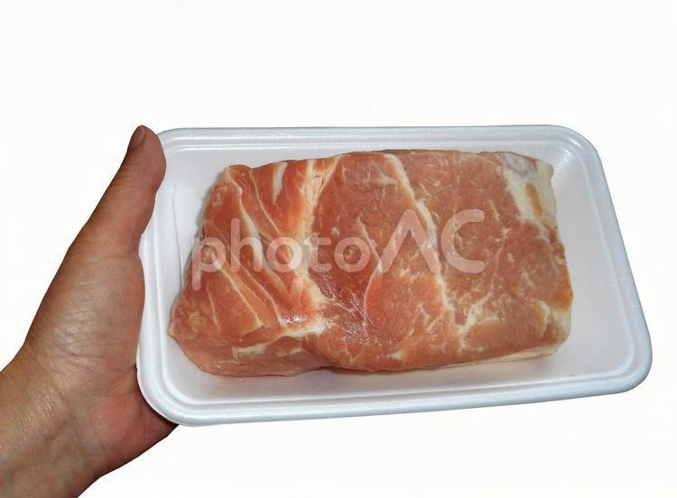 豚ロース ブロックの写真