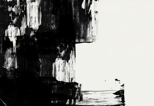 背景紋理 日式毛筆藝術 毛筆書法 Sumie Ink Juice Ink Painting Monotone Cool