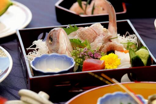 And food, sashimi