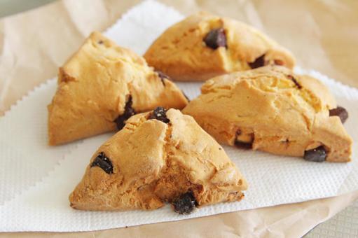 Triangular chocolate scone 2